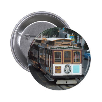 San Francisco Cable Car 6 Cm Round Badge