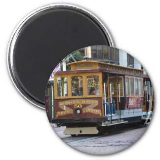 San Francisco Cable Car 6 Cm Round Magnet