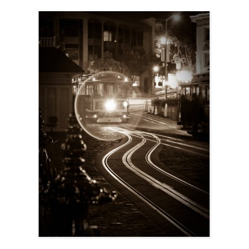 San Francisco Cable Car at Night Postcards
