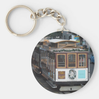 San Francisco Cable Car Basic Round Button Key Ring