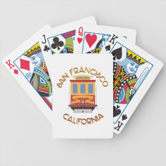 San Francisco Cable Car Bicycle Playing Cards
