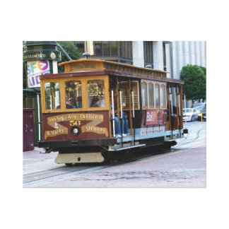 San Francisco Cable Car Canvas Prints