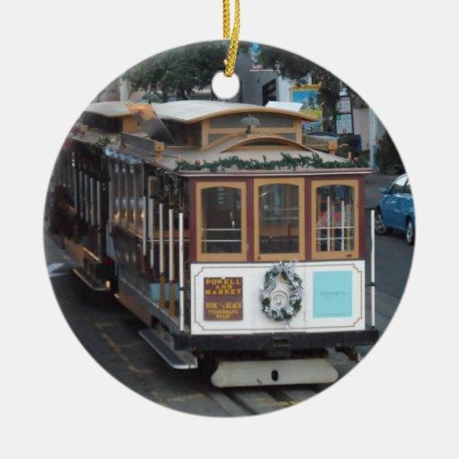 San Francisco Cable Car Christmas Tree Ornament