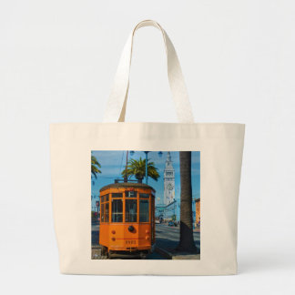 San Francisco Cable Car & Ferry Building Large Tote Bag