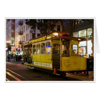 San Francisco Cable Car Greeting Card