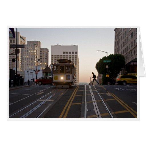 San Francisco Cable Car Greeting Card