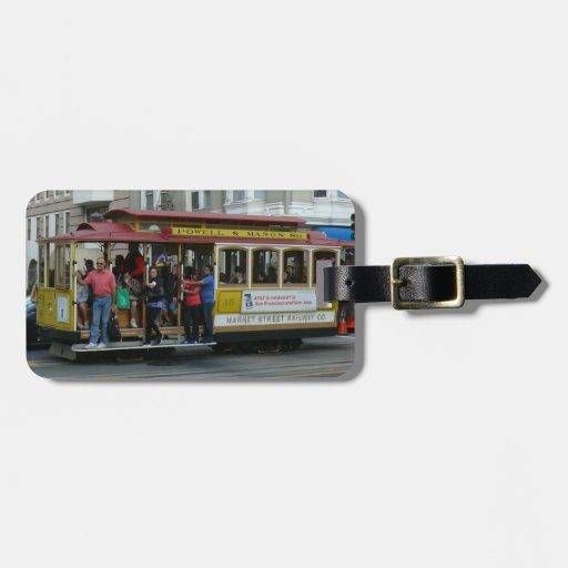 San Francisco Cable Car Tags For Bags