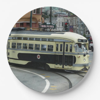 San Francisco Cable Car Paper Plate