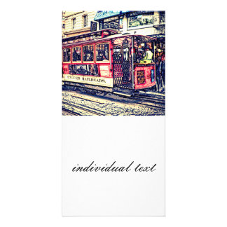 san francisco cable car personalised photo card