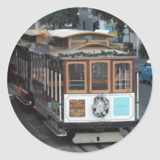 San Francisco Cable Car Round Sticker