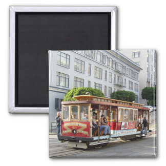 San Francisco Cable Car Square Magnet