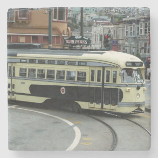 San Francisco Cable Car Stone Coaster