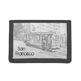 San Francisco Cable Car Trifold Wallets