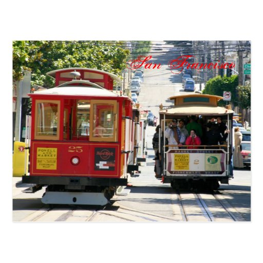 San Francisco Cable Cars Postcard