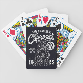 San Francisco Cafe Racer Motor California Bicycle Playing Cards