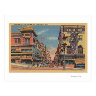 San Francisco, CAGrant Avenue in Chinatown Postcard