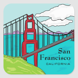 San Francisco Cali golden gate bridge stickers
