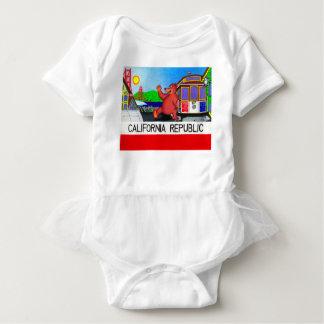 San Francisco California Bear Flag 2 Baby Bodysuit