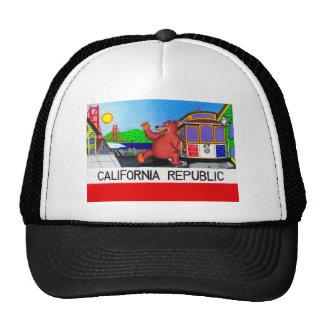 San Francisco California Bear Flag 2 Cap