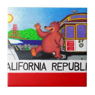 San Francisco California Bear Flag 2 Ceramic Tile