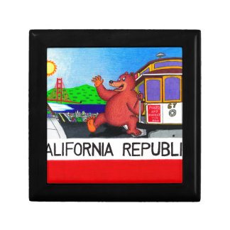 San Francisco California Bear Flag 2 Gift Box
