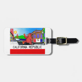 San Francisco California Bear Flag 2 Luggage Tag