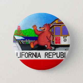San Francisco California Bear Flag 6 Cm Round Badge