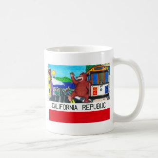 San Francisco California Bear Flag Mugs