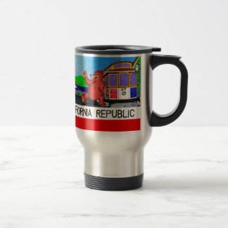 San Francisco California Bear Flag Travel Mug
