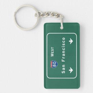 San Francisco California ca Interstate Highway : Key Ring
