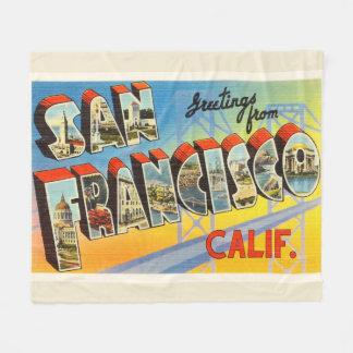 San Francisco California CA Old Travel Souvenir Fleece Blanket