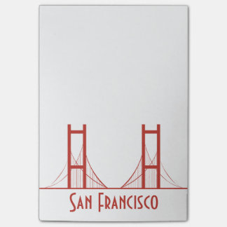 San Francisco California Golden Gate Bridge Post-it Notes