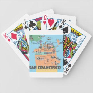 San Francisco California Map Bicycle Playing Cards