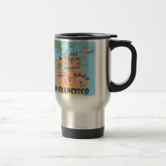San Francisco California Map Travel Mug