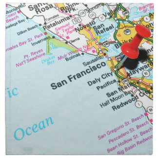 San Francisco, California Napkin