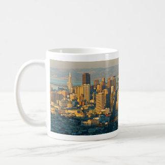 San Francisco California Panorama Sunset Coffee Mugs