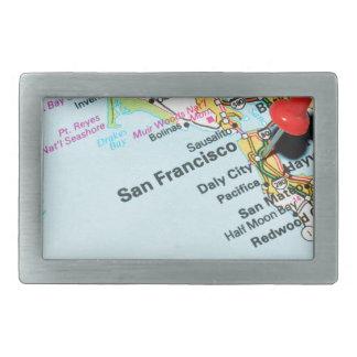 San Francisco, California Rectangular Belt Buckles