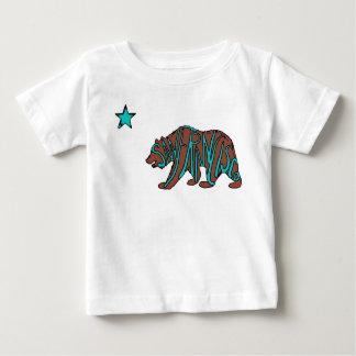 San Francisco California teal bear baby shirt
