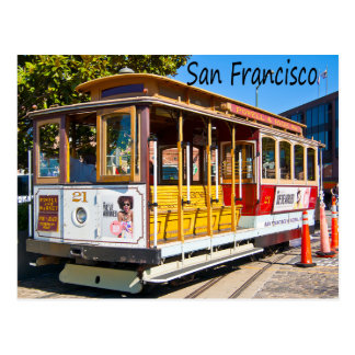 San Francisco California Trolley Car Postcard