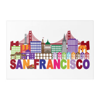 San Francisco, California | Typography Design Acrylic Print