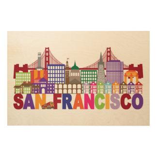 San Francisco, California | Typography Design Wood Wall Decor