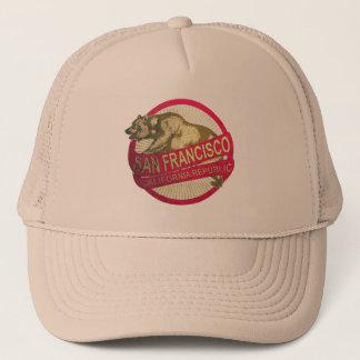 San Francisco California vintage bear hat