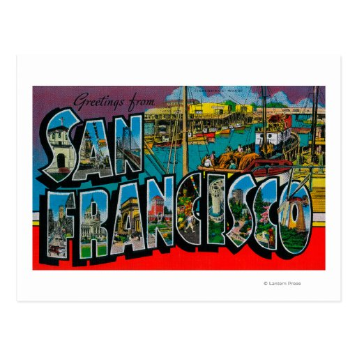 San Francisco, CaliforniaLarge Letter Scenes Postcard
