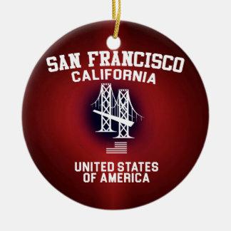 San Francisco Ceramic Ornament