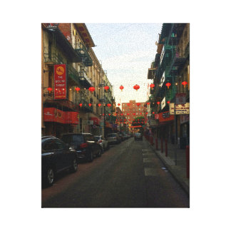 San Francisco Chinatown Lanterns #2 Canvas