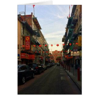 San Francisco Chinatown Lanterns #2 Card