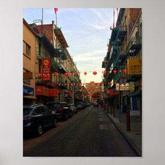 San Francisco Chinatown Lanterns #2 Poster
