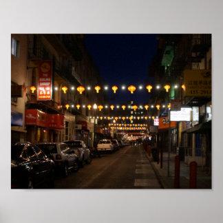 San Francisco Chinatown Lanterns Poster
