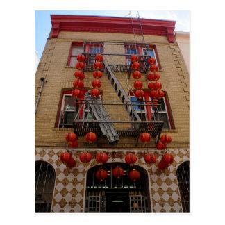San Francisco Chinatown Temple Postcard