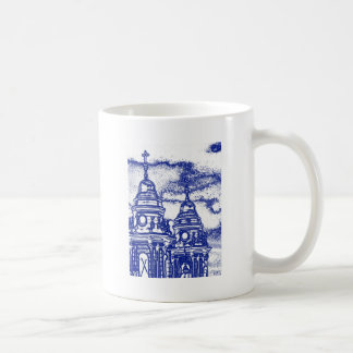 San Francisco Church in Blue Basic White Mug